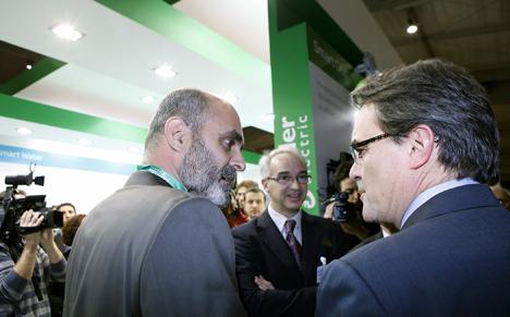 Alberto Aza, José E. Serra y Artur Mas