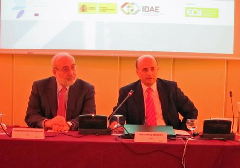 Fernando Bayón, director EOI y Fidel Pérez Montes,director general de IDAE