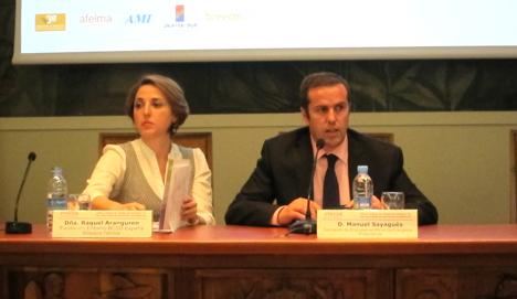 Dña. Raquel Aranguren, Directora Técnica de la Fundación Entorno-BCSD España y Manuel Sayagués, presidente de la Asociación Empresas de Eficiencia Energética