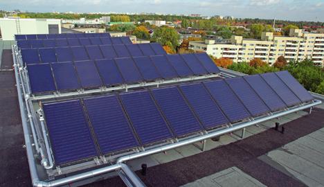Placa fotovoltaica de Buderus