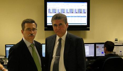 Carlos López Jimeno, Director General de Industria, Energía y Minas de la Comunidad de Madrid junto a José Porras, presidente de Remica