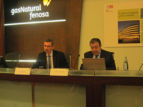 Carlos López Jimeno y Pedro A. Fábregas en la clausura del seminario