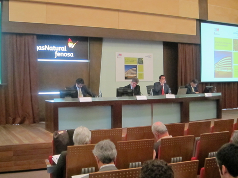 Javier de Miguel, Telefónica, Manuel Ludevid, Fubdación Gas Natural Fenosa, Roger Casellas, Schneider Electric y Juan Puertas, Plataforma española de eficiencia energética