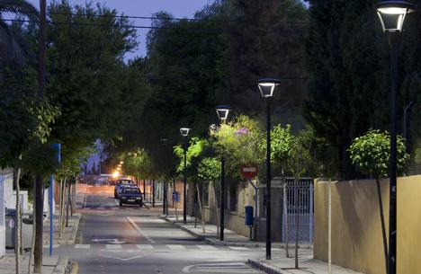 Iluminación en las calles de Alicante