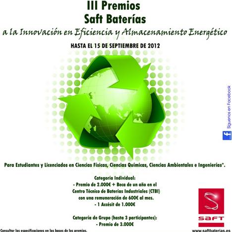 III Premios Saft Baterías