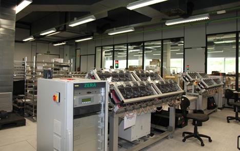 Una de las nuevas zonas de la fábrica de contadores de Bizkaia