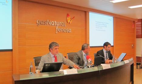 Ramón Silva y Vicente Gramuntell durante la presentación