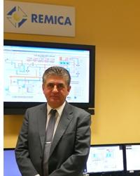 José Porras en la sede de REMICA