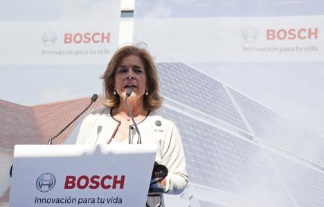 La alcaldesa de Madrid, Ana Botella, durante su discurso