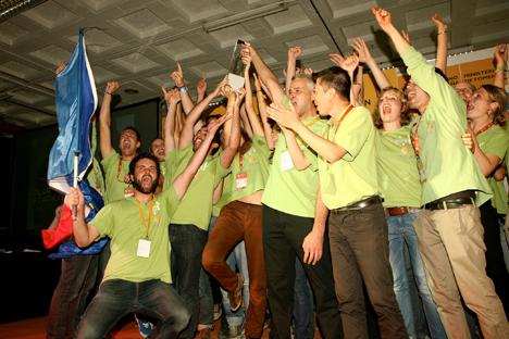 Rhône Alpes, el equipo francés, ganador de la competición Solar Decathlon Europe 2012.