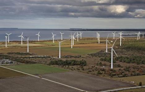 Generación de energía eólica en Gotland