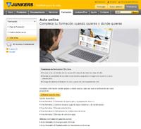 Pantallazo web de Junkers
