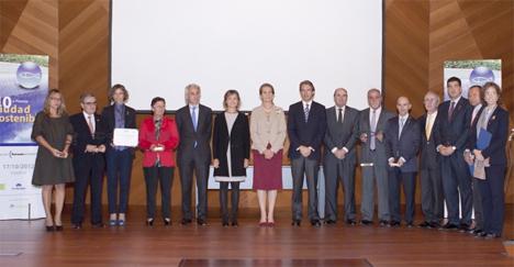 Tudela, ganador del Premio Ciudad Sostenible en la categoría de eficiencia energética.