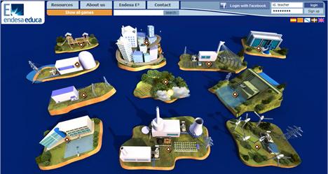 Nueva interface de la web www.endesaeduca.com