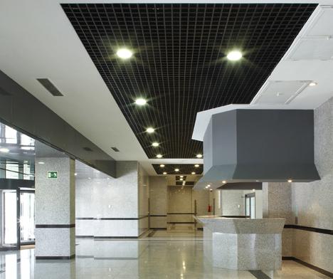 Recepción del edificio de oficinas de Ge Ligthing