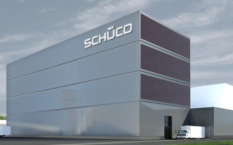 Nuevo centro logísitco y almacén de Schüco en Alemania