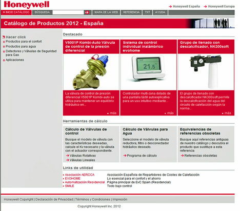 Catálogo de Producto de Honeywell