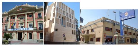 Edificio del Ayuntamiento de Murcia, Moneo y Policía Municipal
