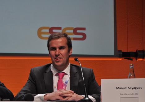 Manuel Sayagués durante su intervención en el Congreso ESES