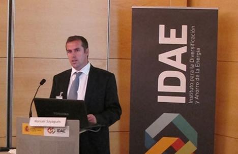 Miguel Sayagués durante su intervención en la presentación de ESEFICIENCIA.