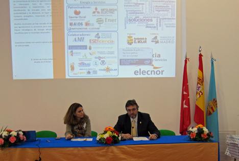 Isabel Alonso y Emilio de Frutos, alcalde de El Molar