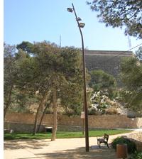 Iluminación de Schréder - Socelec en una zona del parque Monte Tossal en Alicante