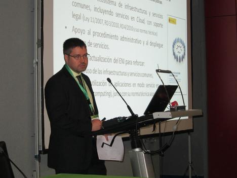 Aitor Cubo, Subdirector General de Programas, Estudios e Impulso de la Administración Electrónica, del Ministerio de Hacienda y Administraciones Públicas