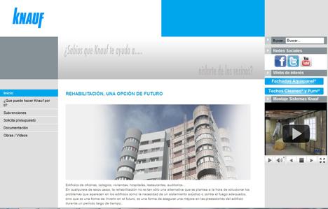 Pantallazo nueva web Knauf