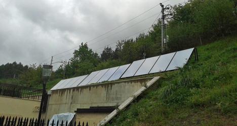 Instalación fotovoltaica en el Palacio San Cristobal