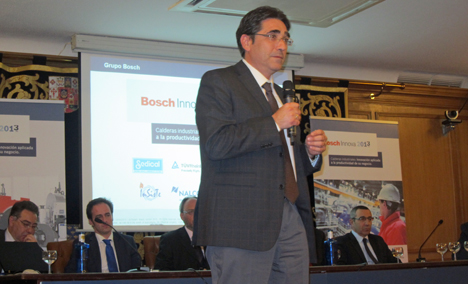 Javier Lahoz, responsable de calderas industriales de Bosch