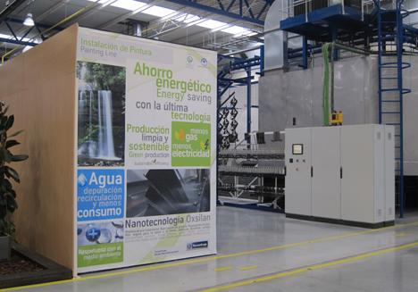 Zona informativa dentro de la fábrica de ThyssenKupp comprometida con el ahorro energético