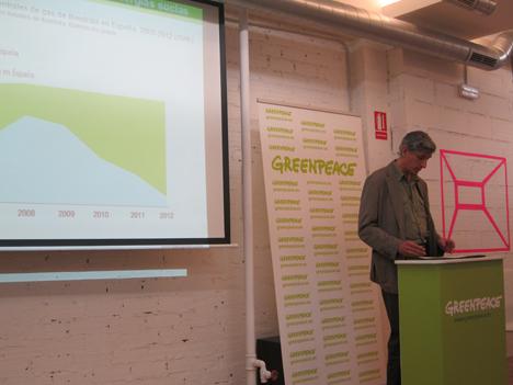José Luis Ortega. Greenpeace en la presentación de Iberogreen
