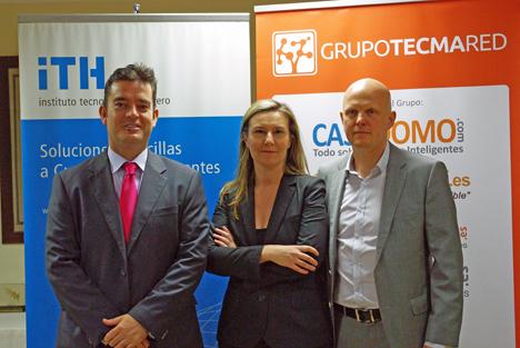 Álvaro Carrillo de Albornoz, Director General del ITH, Inés Leal, Directora de Desarrollo de Negocio de Grupo Tecma Red, Stefan Junestrand, Director General del Grupo Tecma Red (de izq. y dcha.)