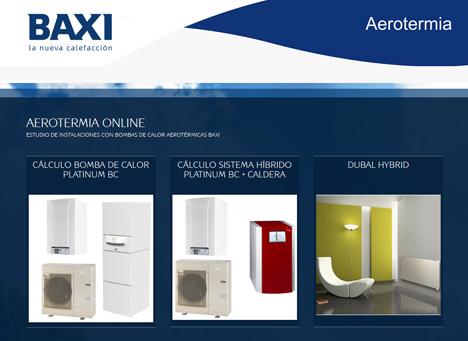 Nueva aplicación Aerotermia Online de Baxiroca