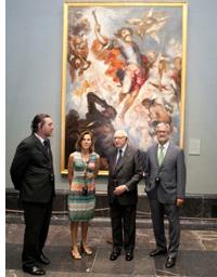 El presidente de la Fundación IBERDROLA, Manuel Marín; el presidente del Real Patronato del Museo del Prado, José Pedro Pérez; y el director del Museo del Prado, Miguel Zugaza.