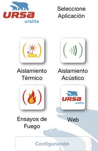 Aplicación móvil de URSA