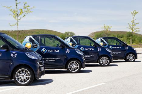 Flota de coches ecológicos de REMICA