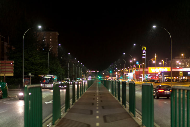 Iluminación con tráfico