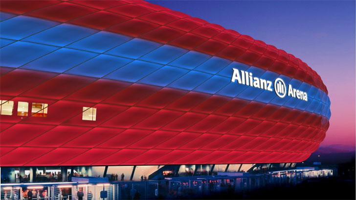 Fachada del Allianz Arena