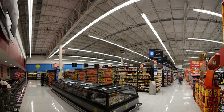 Iluminación en Walmart
