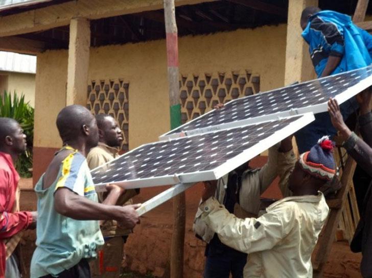 Placas fotovoltaicas en Camerún