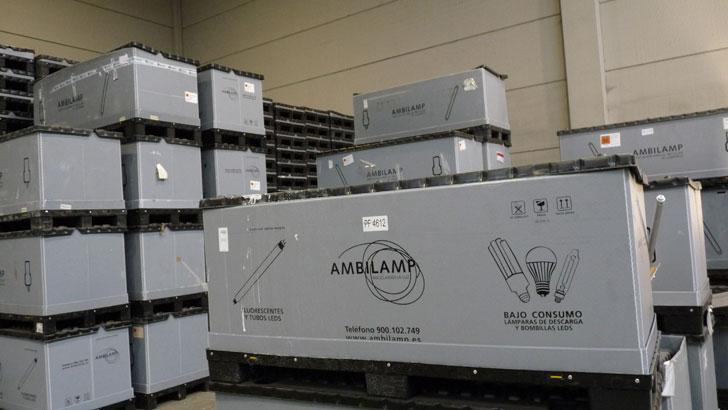 Contenedor de reciclaje de AMBILAMP