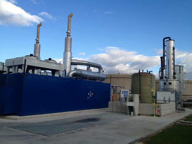 Sistema de Cogeneración instalado en EDAR