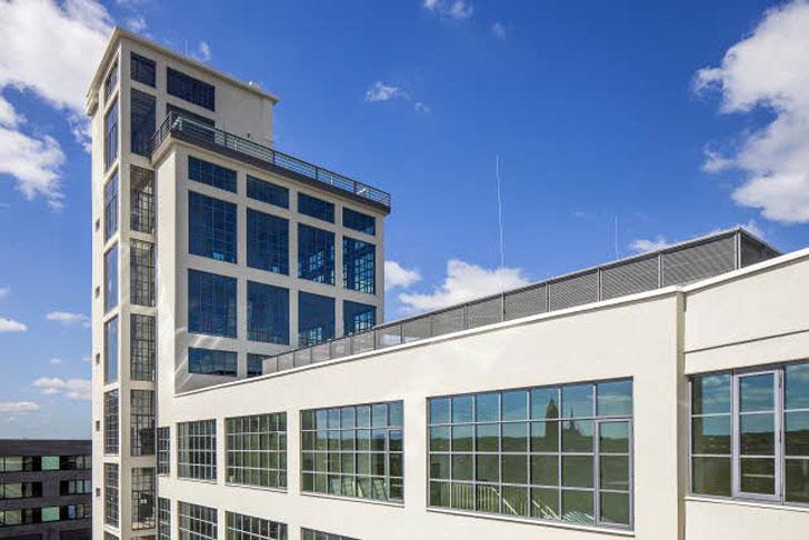 Edificio que incorpora Slim Line 38 de Reynaers.