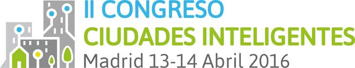 Logo de II Congreso de Ciudades Inteligentes.
