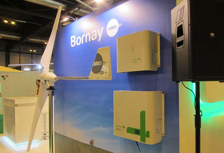Aerogenerador Wind Plus presentado por la empresa Bornay en Genera 2016.