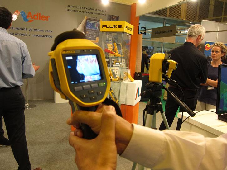 Cámara termográfica Ti 450 presentada por la empresa Fluke en Genera 2016.
