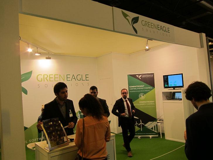 Stand de la empresa Green Eagle Solutions en Genera 2016.