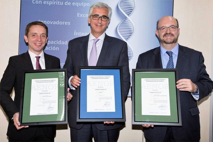 Valoriza Facilities recibe el certificado AENOR que la acredita como Proveedor de Servicios Energéticos según Norma EA 0055.
