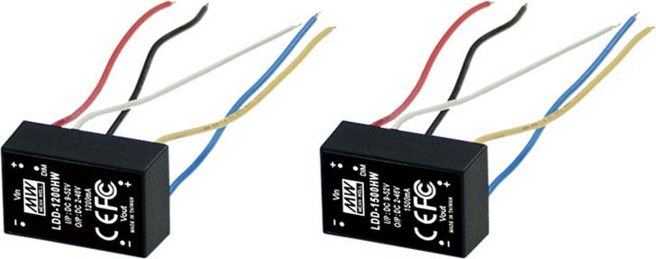Olfer presenta los LED driver de Meanwell para corriente de salida de hasta 1200mA/1500mA.
